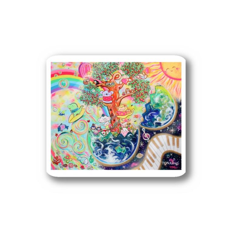 TONA1045の地球のたねたまご Stickers