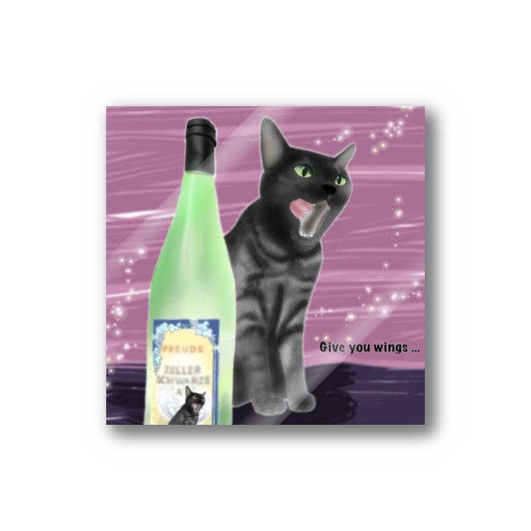 ひげ猫マリオのスモーキー猫 カッツ君 Stickers