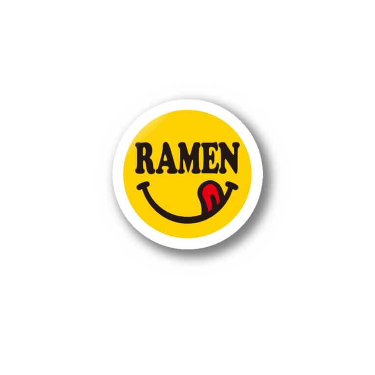 グラフィンのニコちゃんマーク RAMEN ラーメン ロゴ大 Stickers