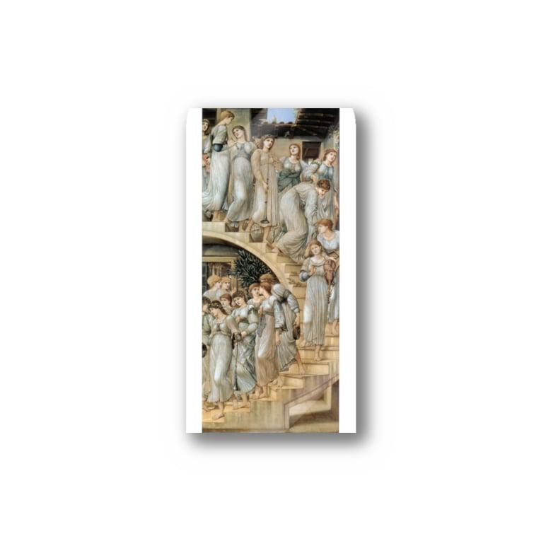 世界の絵画アートグッズのエドワード・バーン=ジョーンズ《黄金の階段》 Sticker