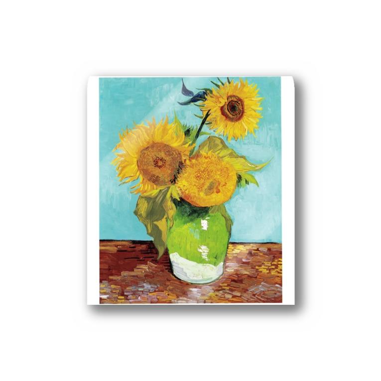 世界の絵画アートグッズのゴッホ《3本のひまわり》 Sticker