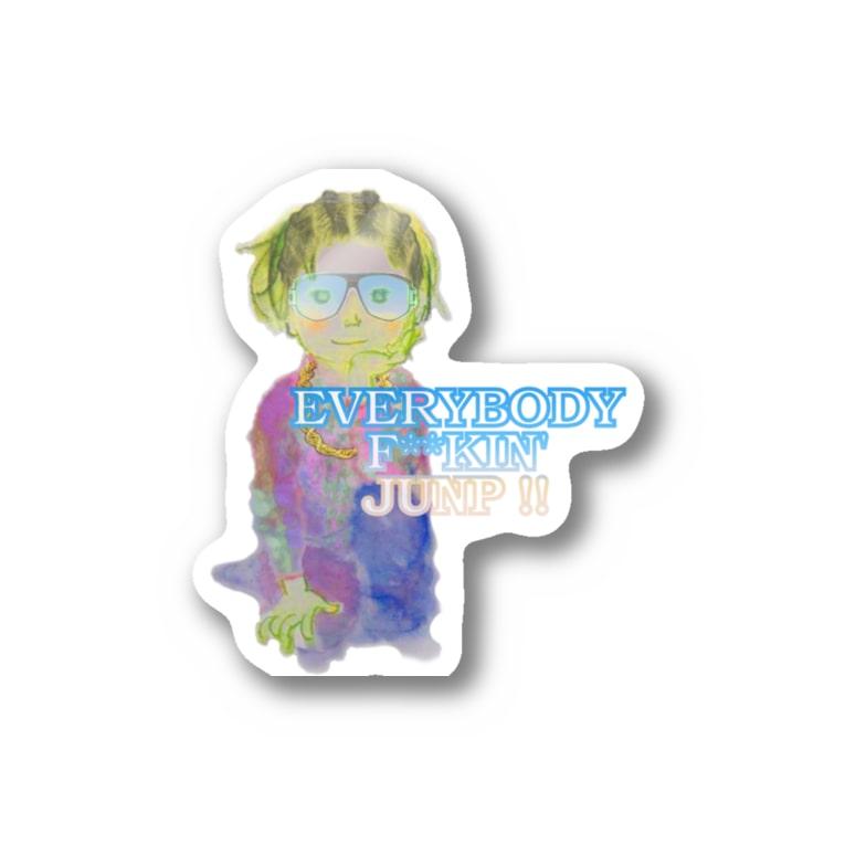 office SANGOLOWのEverybody F__king junp Stickers