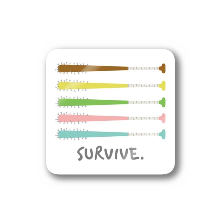 てょんぬショップの釘バット Stickers