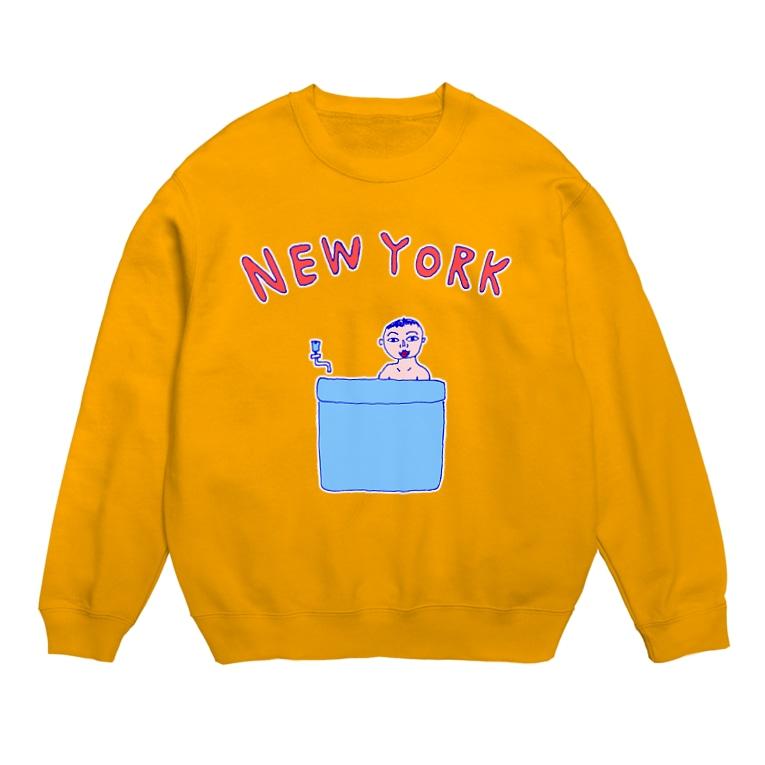 NIKORASU GOのダジャレデザイン「にゅーよーく」<NEWYORK>*このデザインがドラマあのキスの衣装に使われていた模様、松坂桃李さんがきてるのみたよお Sweat