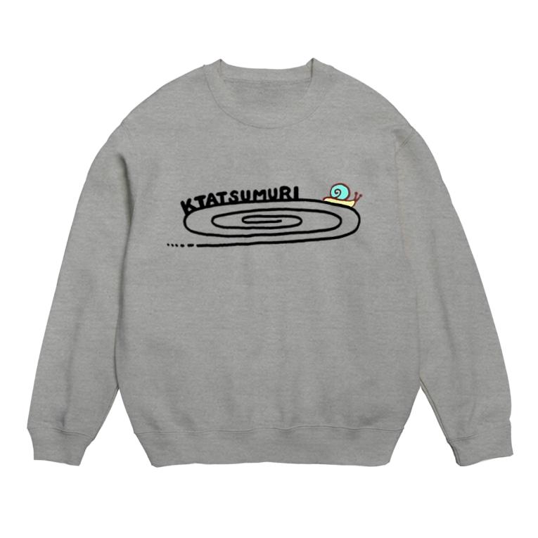 MIHA-HAのかたつむりTシャツ(文字黒) Sweats
