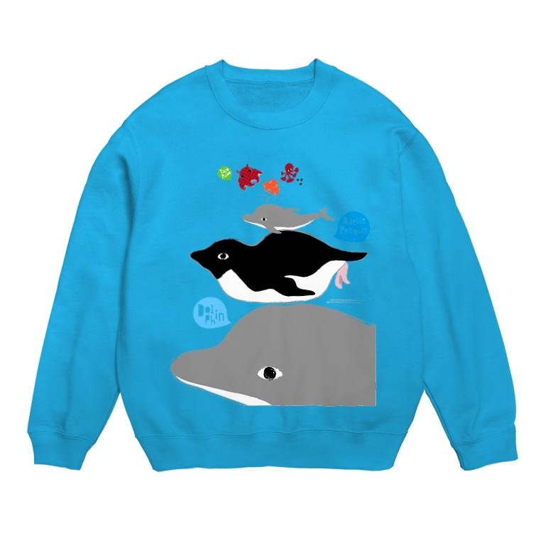 LittleLoroのアデリーペンギンとタコプルポと電池式イルカのサーカス Sweats