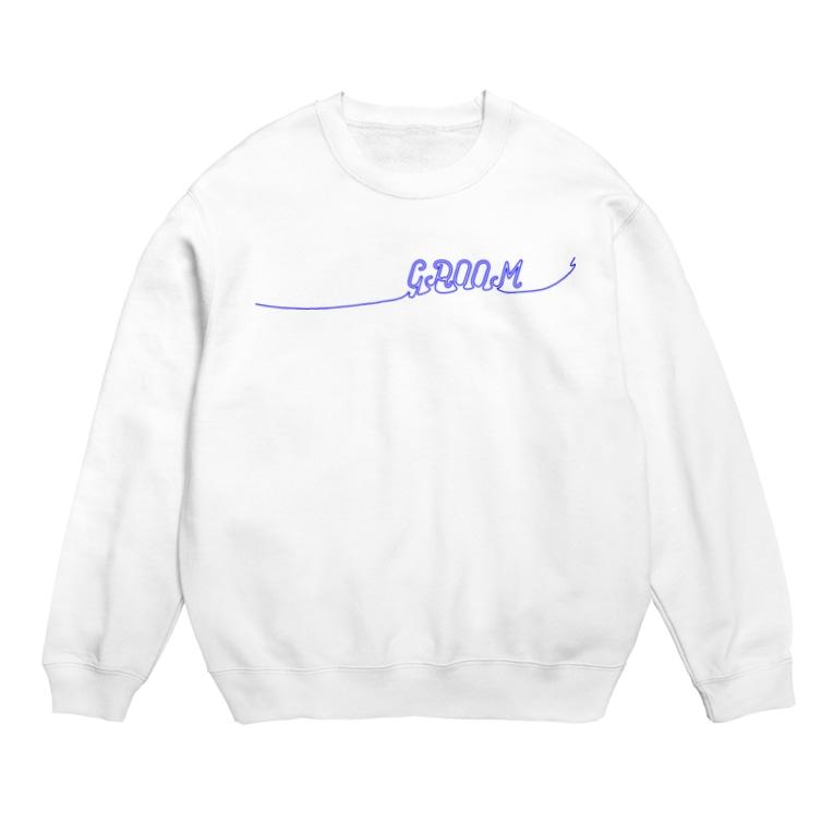 ペアTシャツ屋のシバヤさんのペア(GROOM)青い糸 Sweats