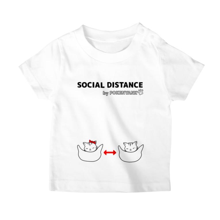 Life Design Factory PINCEのソーシャルディスタンス猫 T-shirts