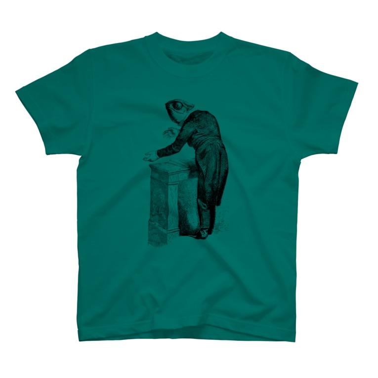 古書 天牛書店のグランヴィル「カメレオン」 <アンティーク・プリント> T-shirts