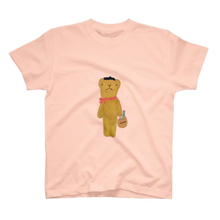 HANONのベロだしベア ピクニックへ行く T-shirts