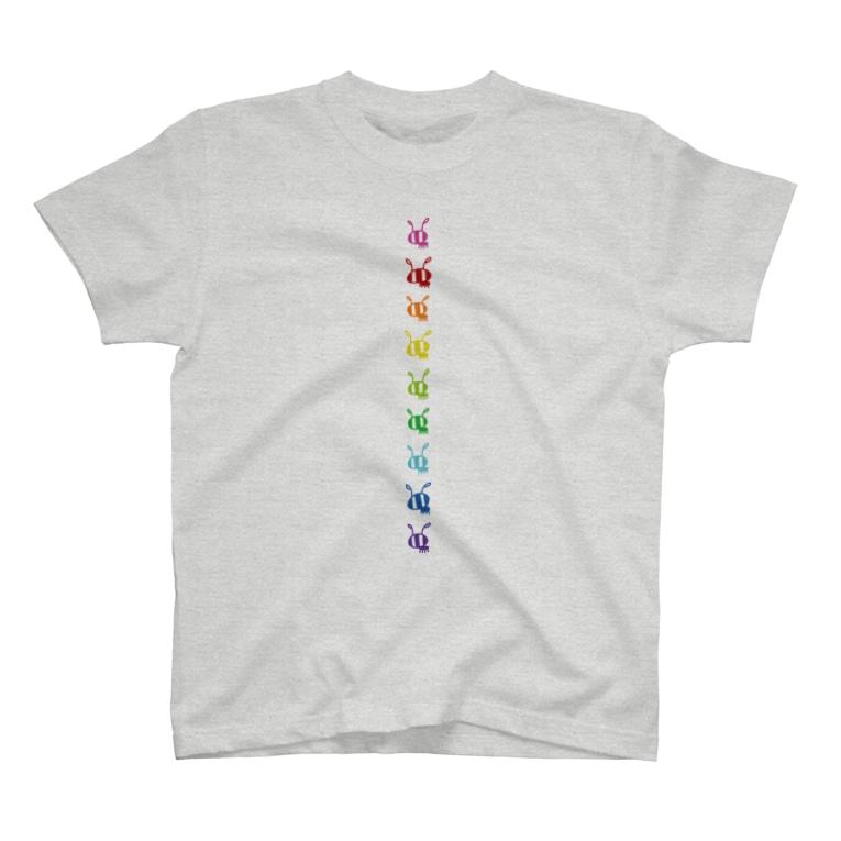 gogoteam54のありんこ縦列レインボー🌈 T-Shirt