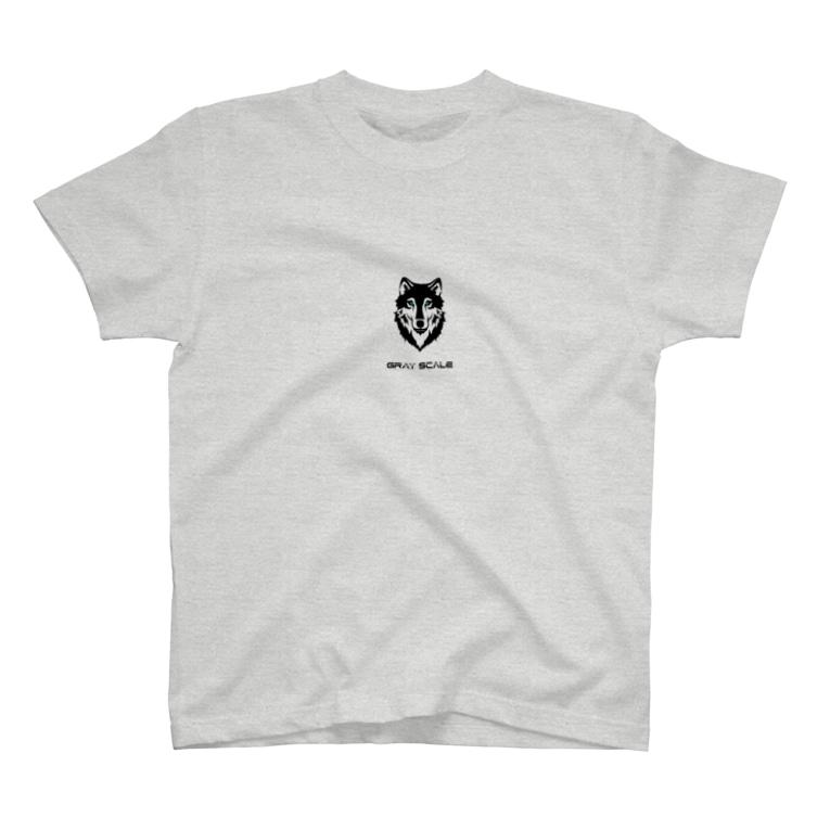 PoooompadoooourのGRAY SCALE ロゴ T-shirts