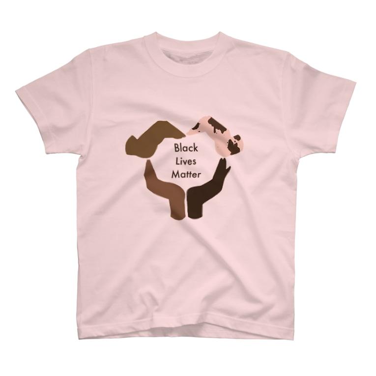 purple cigarettesのBlack Lives Matter/背景なし T-shirts