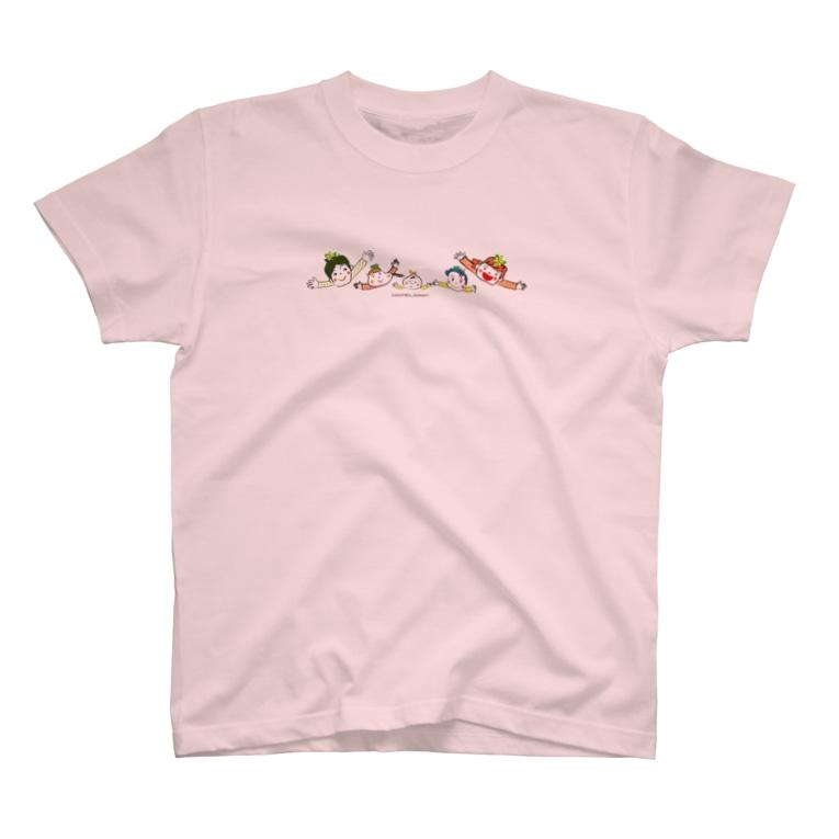 NPO法人子育て応援隊 ココネットあおもり 応援グッズのココネットあおもりファミリー T-shirts
