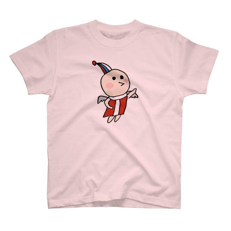 ぺぱーみんとりーふの天ちゃんメイン(背中で翔ぶよ) T-shirts
