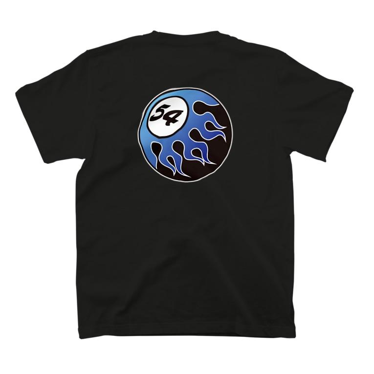 BRONX SOUL WEARのFIFTY-FOUR FIRE BALL BLUE  T-shirtsの裏面