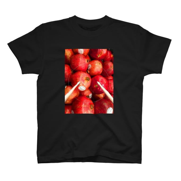 Yukioのドラムスティックざくろ T-shirts