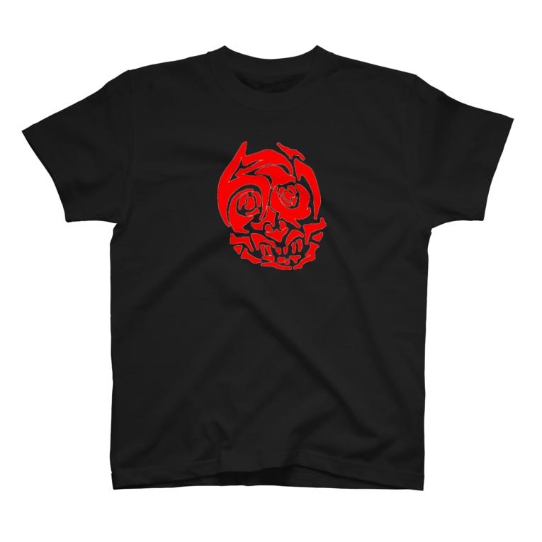 泥濘大魔王サイケのどろどろどくろ(黒/赤) T-shirts