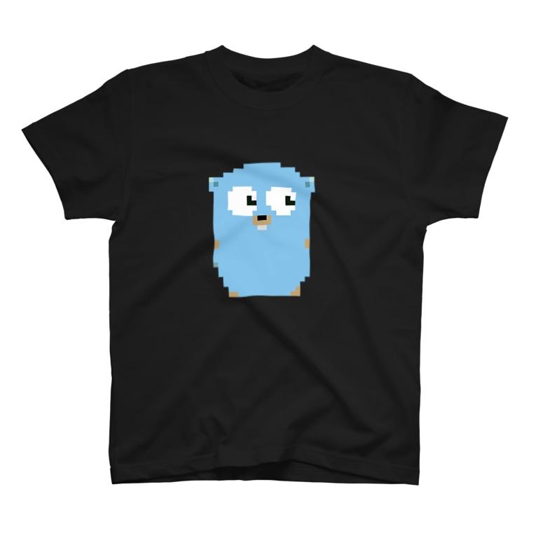 ティナのピクセルGopherくん T-shirts