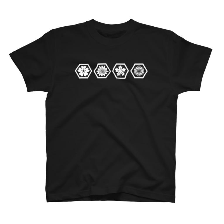 AnotherCreativeAreaのHexagon Season(Ver.White) T-shirts