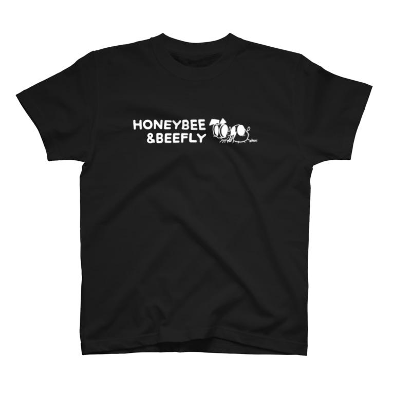 akari🌼虫デフォルメ作家のみつばち&つりあぶ 英字ロゴ【みつばち&つりあぶ】 T-shirts