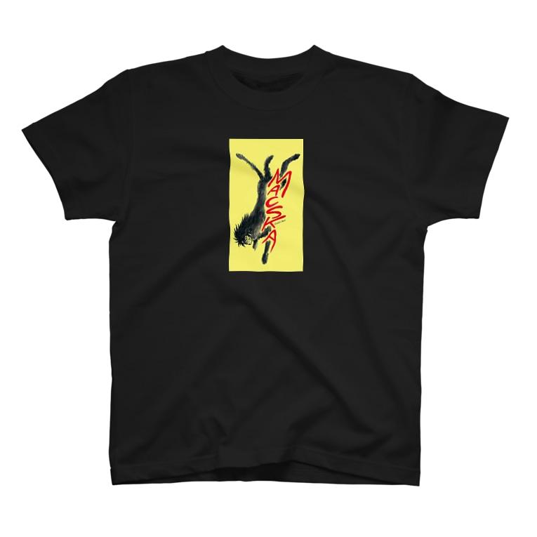 マチュカバーショップの新井英樹ver 走るモンにゃん T-shirts
