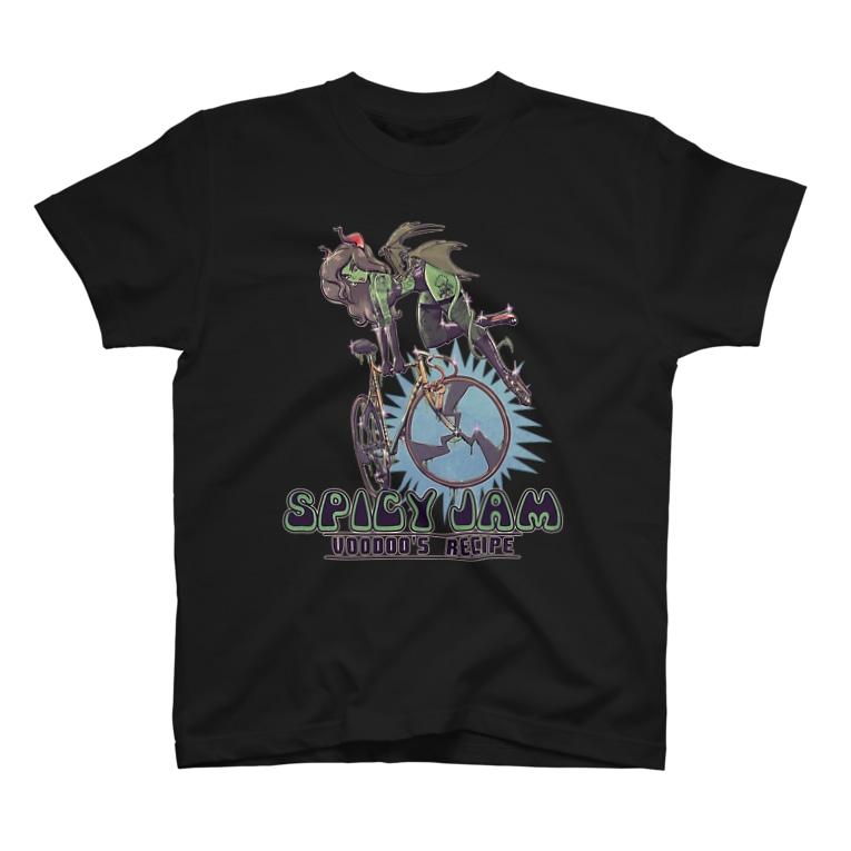 "nidan-illustrationの""SPICY JAM"" (green) T-shirts"