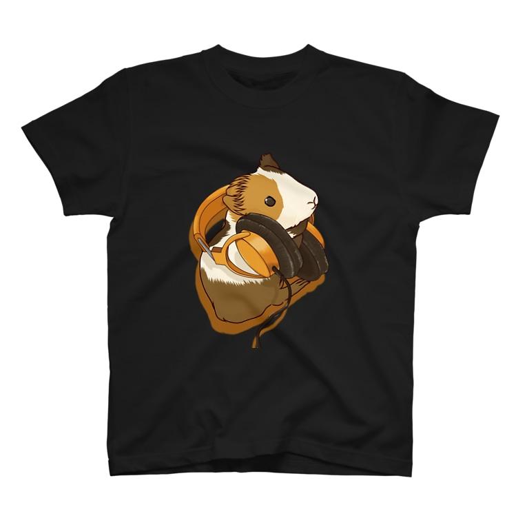Lichtmuhleのモルモットヘッドフォンオレンジ T-Shirt