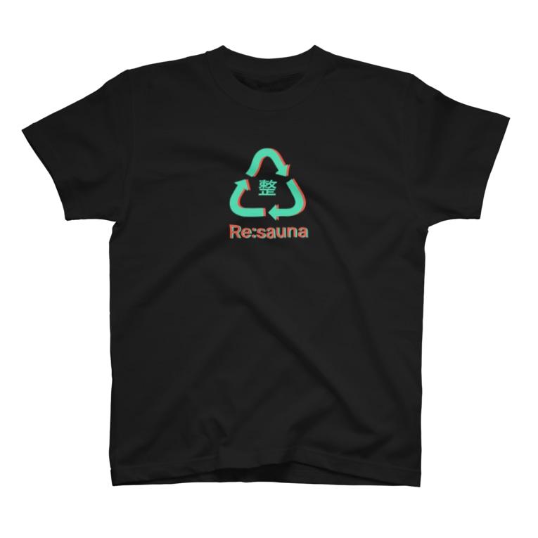 またまたのRe:sauna 黒 T-Shirt