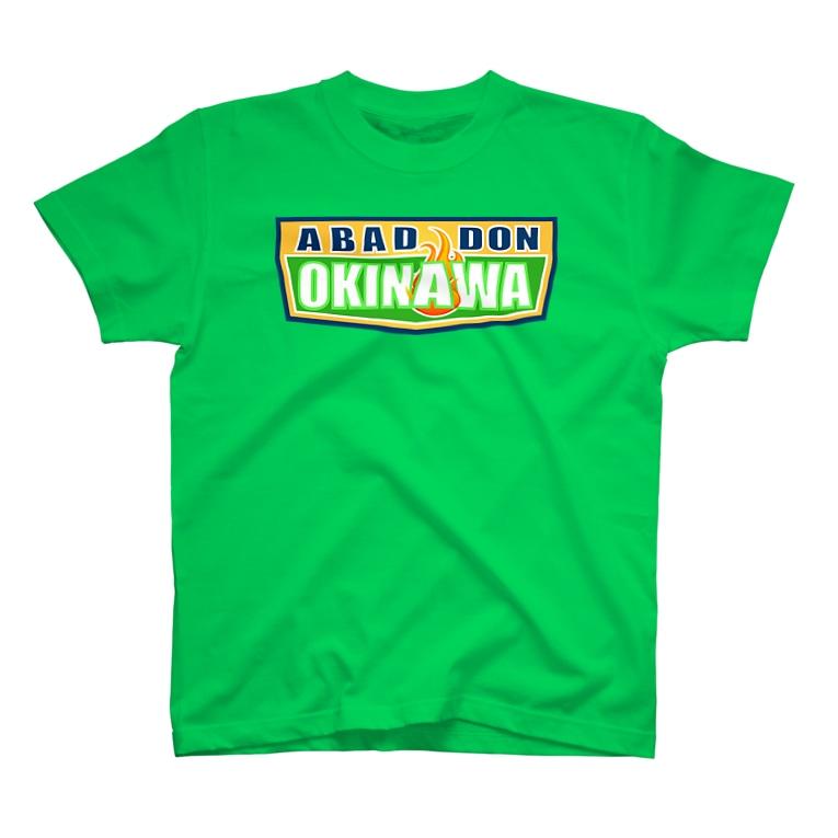 AROのABADDON OKINAWA GREEN LOGO T-shirts