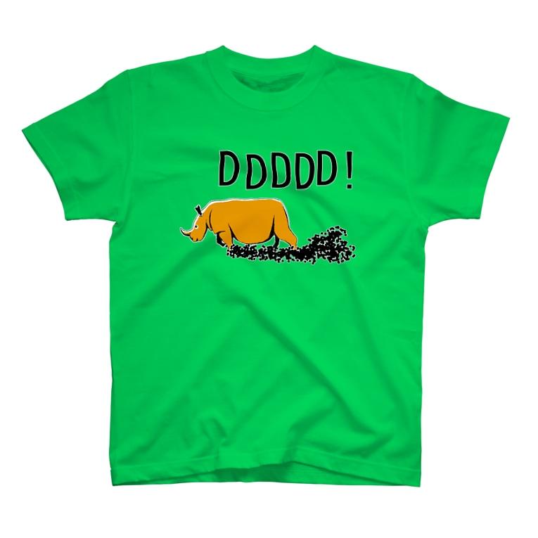 NIKORASU GOのサイのTシャツ「どどどどど」 T-shirts