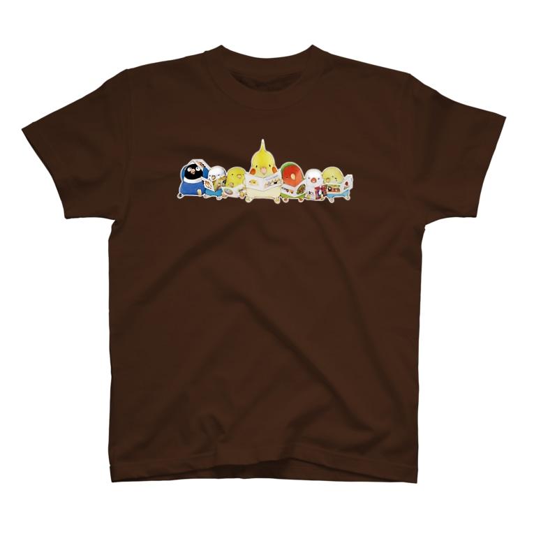 ハミングピッピの絵本を読むインコちゃん T-shirts