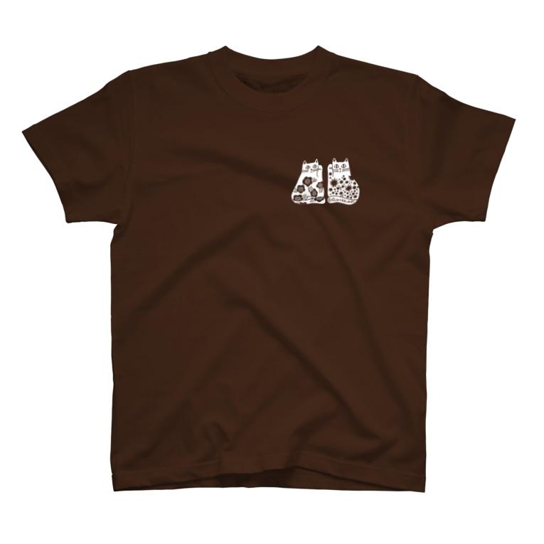 STUDIO*KUBORIのまねきねこ白 T-shirts