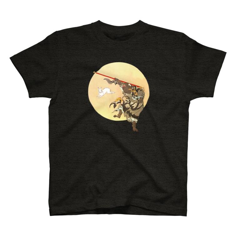 お針子ノブヲの月岡芳年/孫悟空 T-shirts