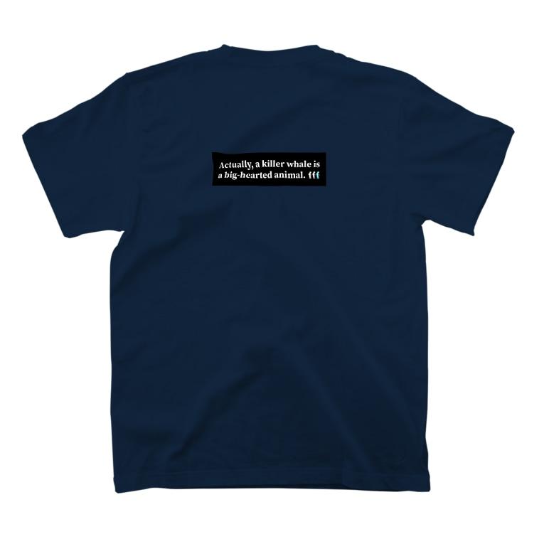 TAKUMI BOYのシャチは本当は(バックプリント) t-shirt T-shirts