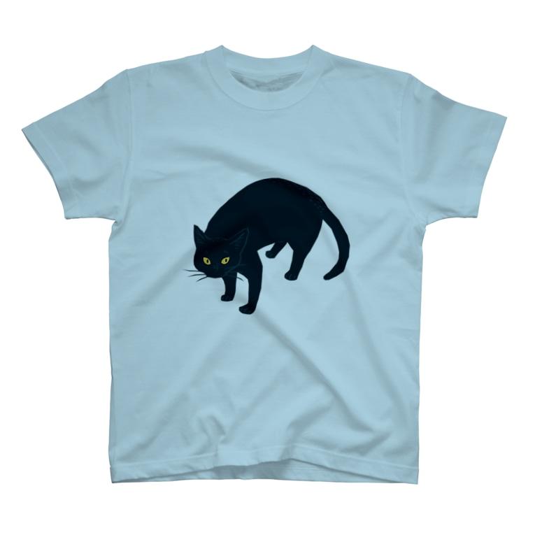 喫茶こぐまやの黒猫さん T-shirts