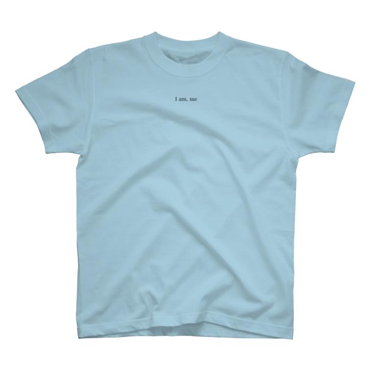 LyosukeSaitoh グッズストアのI am. me Tシャツ 黒文字 T-shirts