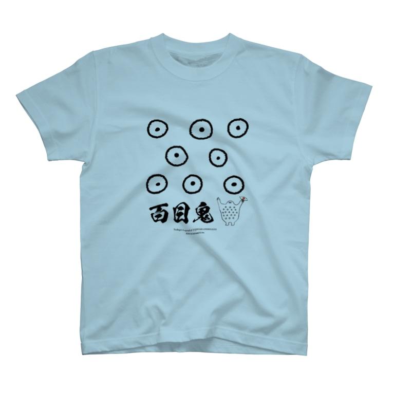 Hidesato&Doumeki Shopのどうめき/モノクロ 目玉 T-shirts