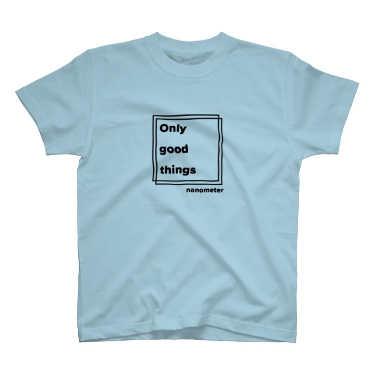 "nanometerのnanometer""良いことばかり""Tシャツ T-Shirt"