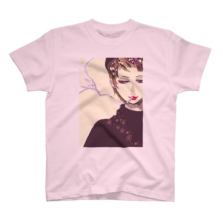 折月フミオのしがれっとちゃん T-Shirt