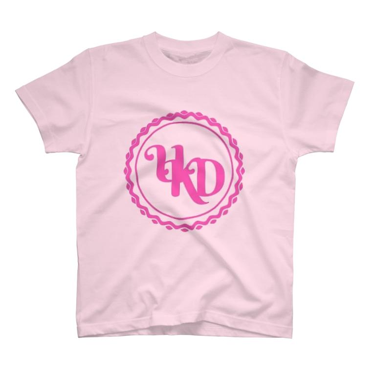 tatsuzaemonのUKD純心Tシャツ 校章 T-shirts