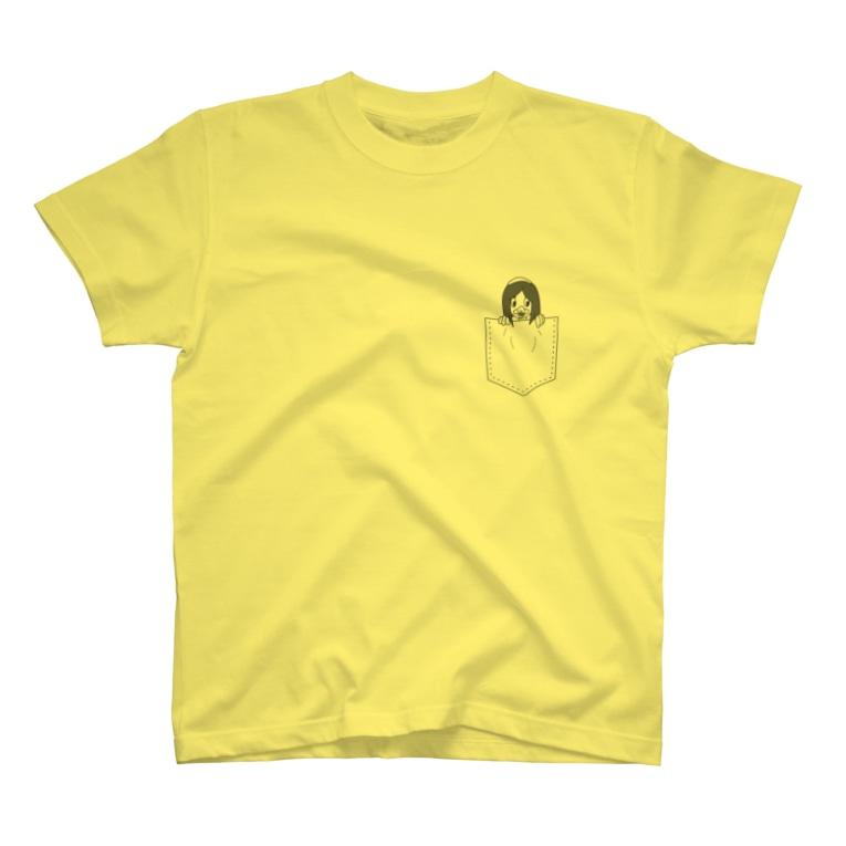 ヤシログラムショップのポケット柄 ピヨピィ T-shirts