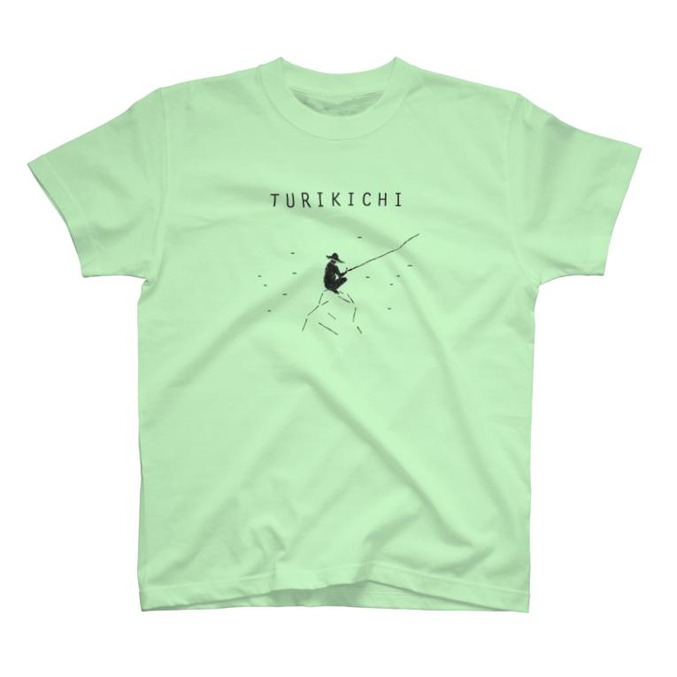 NIKORASU GOの釣り人専用デザイングッズ「ツリキチ」 T-shirts