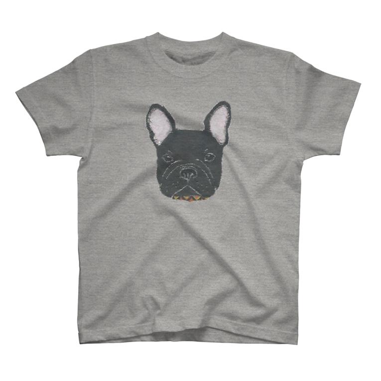 Bless Hue のフレンチブルドッグ (黒) T-shirts