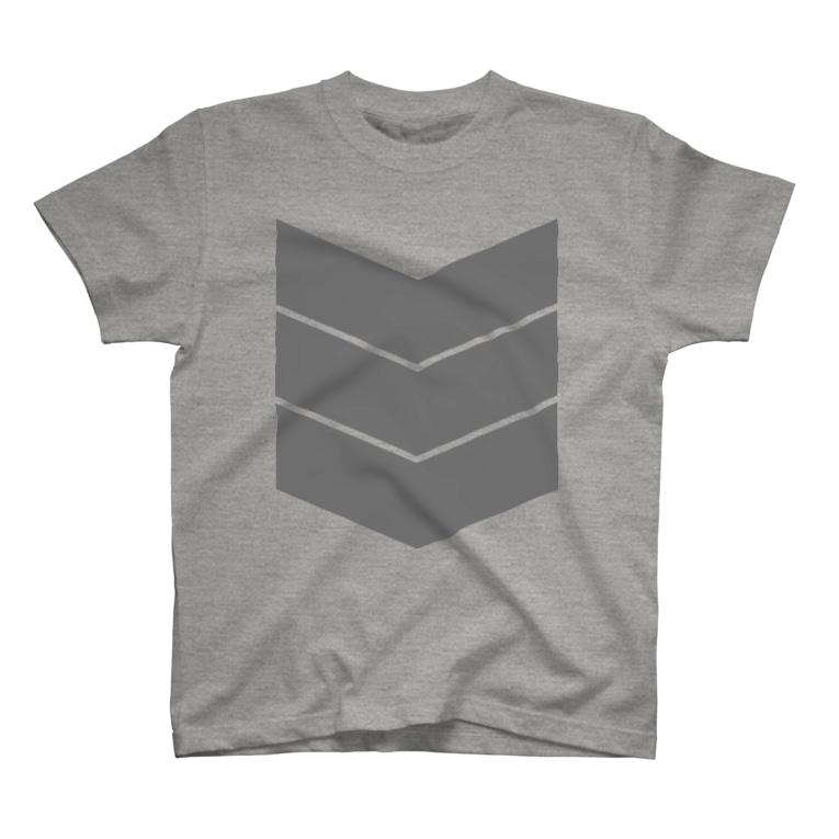 "Plastic-Earthの3LINE ""GRAY"" T-shirts"