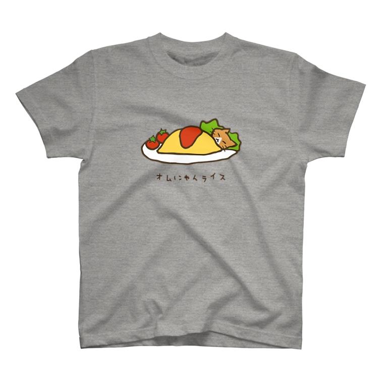 あずき缶のオムにゃんライス T-Shirt