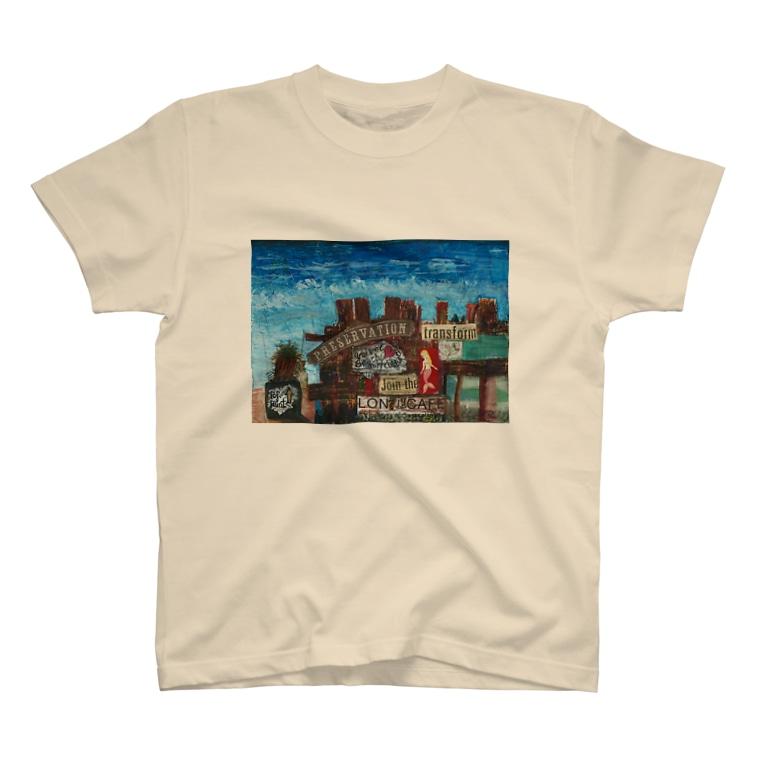 栗原進@夢の空想画家のVelvet Beach Surf Point T-shirts