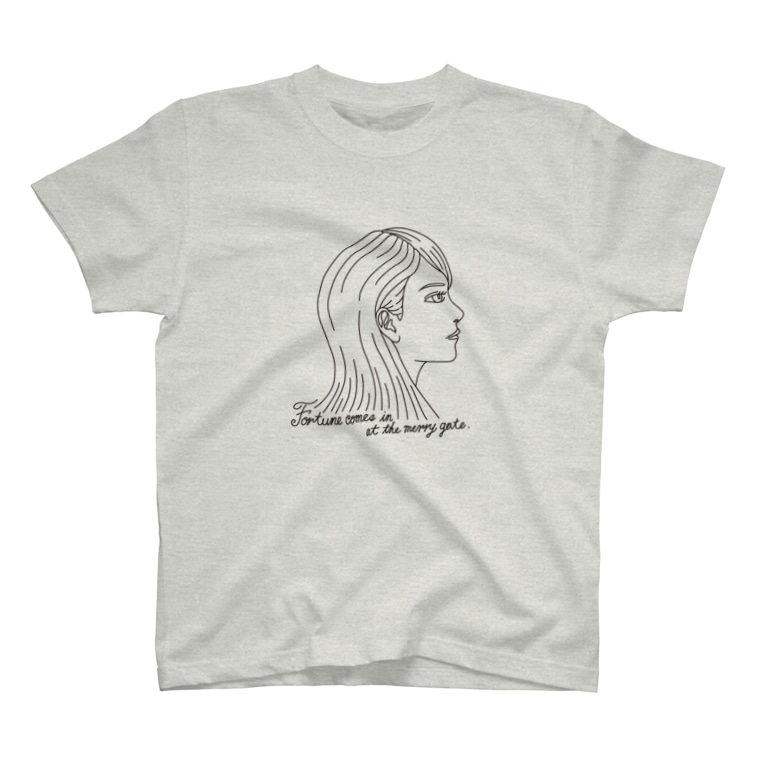 AnotherCreativeAreaのFortune comes in at the merry gate. T-shirts