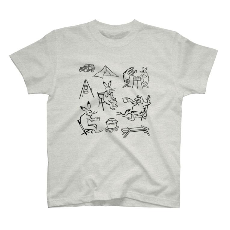 HOUSOの鳥獣戯画現代版 アウトドア T-Shirt
