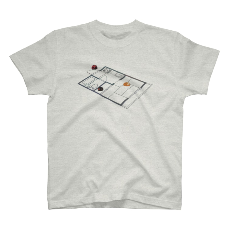 ノザキ-Nozakiの生活を模するてんとう虫 T-Shirt